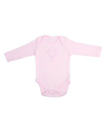 NeedyBee Full Sleeves Onesies Heart Motif - Pink