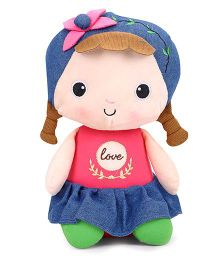 Starwalk Soft Plush Candy Doll With Flower Bow - 30 cm