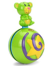 Mitashi Skykidz Teddy Roly Poly Musical Ball - Green Yellow