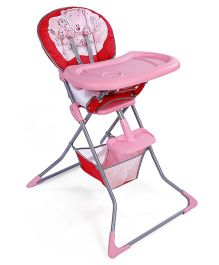 High Chair With Removable Food Tray - Pink