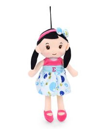 Starwalk Plush Doll Alphabet E Embroidery Blue Pink - Height 30 cm