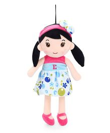 Starwalk Plush Doll Alphabet E Embroidery Blue Pink - Height 40 cm