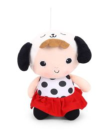 Super Soft Polka Doll Red Black - Height 30 cm