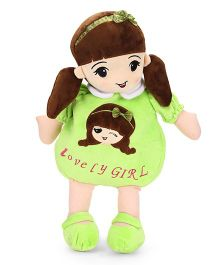 Starwalk Lovely Girl Plush Doll Toy Bag Green - 50 cm