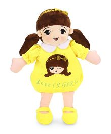 Starwalk Lovely Girl Plush Doll Toy Bag Yellow - 50 cm