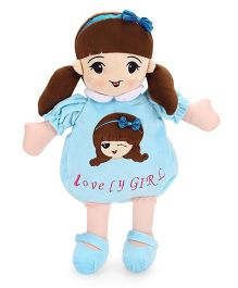 Starwalk Lovely Girl Plush Doll Toy Bag Blue - 50 cm