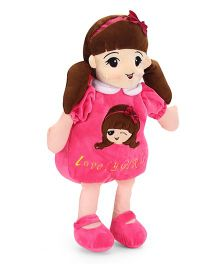 Starwalk Lovely Girl Plush Doll Toy Bag Dark Pink - 50 cm