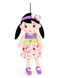 Starwalk Plush Doll Alphabet F Embroidery Purple - Height 50 cm