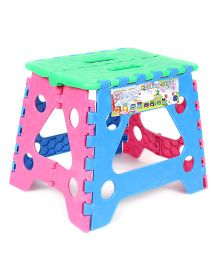 Baby Folding Stool - Green Pink Blue