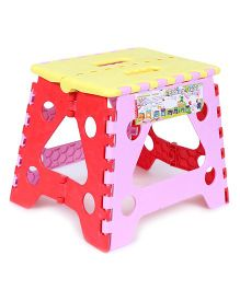 Baby Folding Stool - Yellow Pink Red