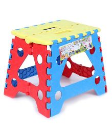 Baby Folding Stool - Yellow Red