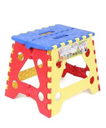 Baby Folding Stool - Blue And Yellow