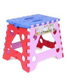 Baby Folding Stool - Blue And Pink