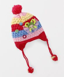 Babyhug Baby Winter Cap Doll Applique - Red