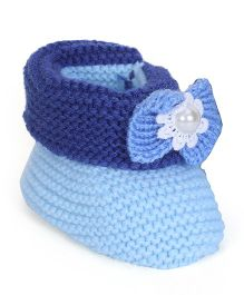 Cute Walk by Babyhug Winter Wear Socks Shoes - Blue