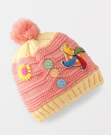 Babyhug Winter Cap - Peach