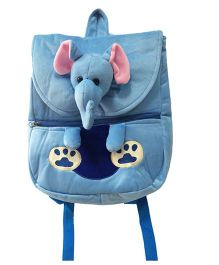 Ultra Elephant Face School Bag Blue - 14 Inches