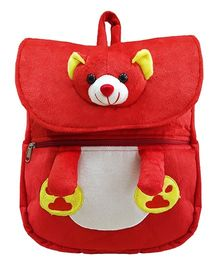 Ultra Teddy Face School Bag Red - 14 Inches
