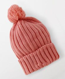 Babyhug Winter Cap - Pink