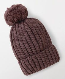 Babyhug Winter Cap - Violet