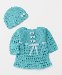 The Original Knit Sweater With Cap - Turquoise