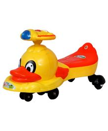 EZ' Playmates Magic Twister Car With Duck Toy - Yellow Orange