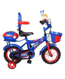 HLX-NMC Bicycle With Trainer Wheels Royal Blue Red - 12 inches