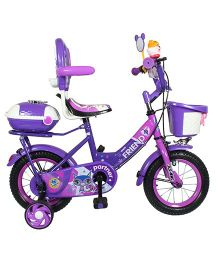 HLX-NMC Bicycle With Trainer Wheels Purple - 12 inches