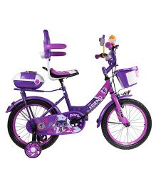 HLX NMC Bowtie Bicycle With Trainer Wheels Purple & Pink - 16 Inch