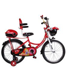 HLX-NMC Charm Bicycle With Trainer Wheels Red - 20 inches