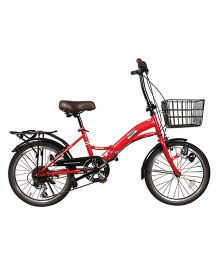 Cosmic 6 Speed Folding Bicycle With Dynamo Red - 20 Inches