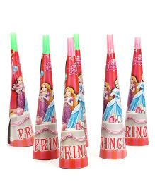 Disney Princess Paper Hooters Pack Of 6 - Red