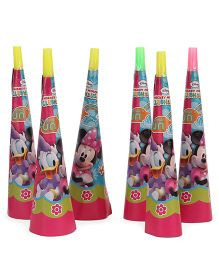 Disney Minnie Mouse Clubhouse Paper Hooters Pack Of 6 - Multicolor