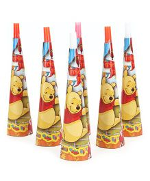 Winnie The Pooh Paper Hooters Pack Of 6 - Yellow