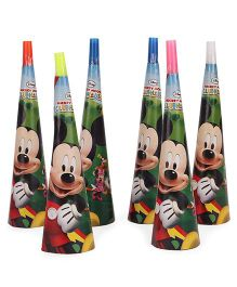 Disney Mickey Mouse Clubhouse Paper Hooters Pack Of 6 - Multicolor