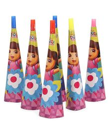 Dora Paper Hooters Pack Of 6 - Multicolor