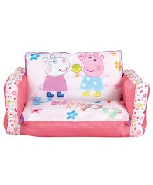 Peppa Pig 2 in 1 Inflatable With Lounger Mini Sofa - Pink