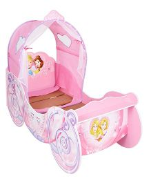 Disney Princess Carriage Toddler Bed With Light Up Canopy - Pink