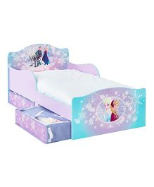 Disney Frozen Toddler Bed With Underbed Storage - Purple Blue