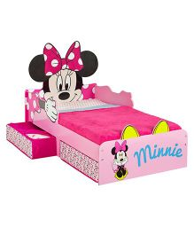 Disney Minnie Mouse Toddler Bed With Underbed Storage - Pink