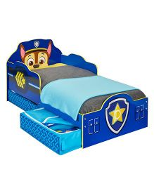 Paw Patrol Chase Toddler Bed With Underbed Storage - Blue