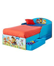 Paw Patrol Toddler Bed With Underbed Storage - Blue
