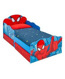 Marvel Spider-Man Toddler Bed With Underbed Storage - Red Blue