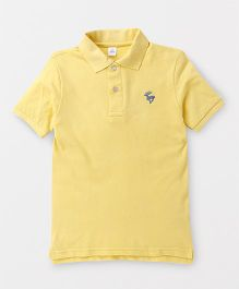 ToffyHouse Half Sleeves T-Shirt Deer Embroidery - Pale Yellow