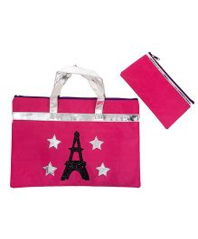 Li'll Pumpkins Eiffel Tower Folder Bag - Pink