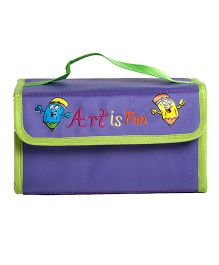 Li'll Pumpkins Art Is Fun Stationery Organiser - Purple