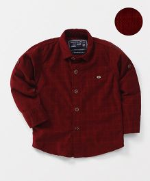 Jash Kids Full Sleeves Checks Shirt - Maroon