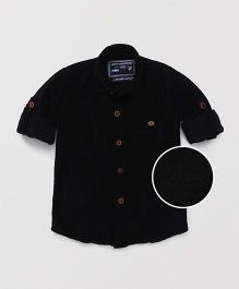Jash Kids Full Sleeves Checks Shirt - Black