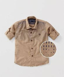 Jash Kids Full Sleeves Printed Shirt - Beige