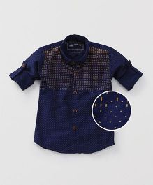 Jash Kids Full Sleeves Printed Shirt - Navy